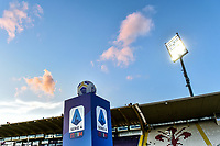 Official Serie A ball over a pedestal with Serie A logo is seen prior the Serie A football match between ACF Fiorentina and Udinese Calcio at Artemio Franchi stadium in Firenze (Italy), October 25th, 2020. Photo Andrea Staccioli / Insidefoto