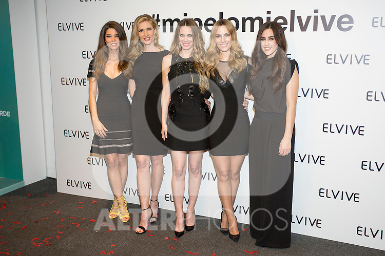 Models Juana Acosta, Judit Masco, Edurne Garcia and Vanesa Romero pose during promotional event in Madrid, Spain. February 11, 2016. (ALTERPHOTOS/Victor Blanco)