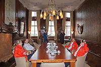 The Netherlands, Den Bosch, 16.04.2014. Fed Cup Netherlands-Japan, draw<br /> Photo:Tennisimages/Henk Koster