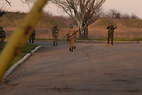 Ukrainian soldiers during anti-terrorist operation in Kramatorsk
