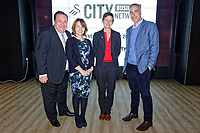 Pictured L-R: Kevin Johns, unknown, Professor Laura McAlister and Chris Pearlman.  Thursday 29 November 2018<br /> Re: Swansea City Business Network event at the Liberty Stadium, Wales, UK.