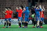 Spain's players celebrates victory  during the International Friendly match on 21th March, 2019 in Granada, Spain. (ALTERPHOTOS/Alconada)
