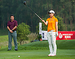 Minami Hiruta of Japan in action during day 3 of the 9th Faldo Series Asia Grand Final 2014 golf tournament on March 20, 2015 at Faldo course in Mid Valley Golf Club in Shenzhen, China. Photo by Xaume Olleros / Power Sport Images