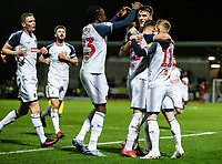 Bolton Wanderers' Ryan Delaney (2nd right) celebrates scoring his side's first goal with his team mates <br /> <br /> Photographer Andrew Kearns/CameraSport<br /> <br /> The Premier League - Leicester City v Aston Villa - Monday 9th March 2020 - King Power Stadium - Leicester<br /> <br /> World Copyright © 2020 CameraSport. All rights reserved. 43 Linden Ave. Countesthorpe. Leicester. England. LE8 5PG - Tel: +44 (0) 116 277 4147 - admin@camerasport.com - www.camerasport.com