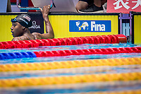 Manuel Simone of USA responses after winning the women's 100m freestyle final during 18th Fina World Championships Gwangju 2019 at Nambu University Municipal Aquatics Centre, Gwangju, on 26  July 2019, Korea.  Photo by : \3500799#1\ / Prezz Images
