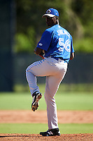 Toronto Blue Jays pitcher Dany Jimenez (56) during an Instructional League game against the Philadelphia Phillies on October 1, 2016 at the Carpenter Complex in Clearwater, Florida.  (Mike Janes/Four Seam Images)