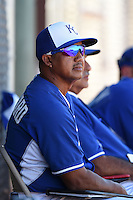 Kansas City Royals coach Rafael Belliard during an Instructional League game against the Cincinnati Reds on October 14, 2014 at Goodyear Training Facility in Goodyear, Arizona.  (Mike Janes/Four Seam Images)