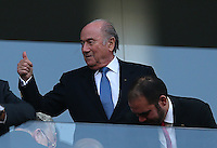 FIFA president Sepp Blatter gives a thumbs up