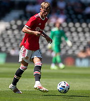 18th July 2021; Pride Park, Derby, East Midlands; Pre Season Friendly Football, Derby County versus Manchester United;  Brandon Williams of Manchester United
