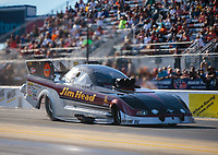 Oct 13, 2018; Concord, NC, USA; NHRA funny car driver Jonnie Lindberg during qualifying for the Carolina Nationals at zMax Dragway. Mandatory Credit: Mark J. Rebilas-USA TODAY Sports