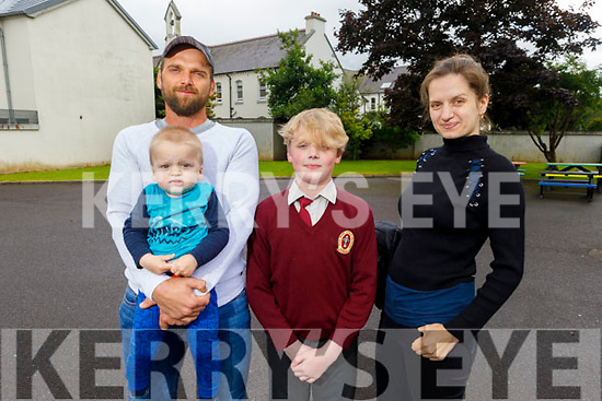 Endijs Maurins graduating from Moyderwell NS on Friday.<br /> L to r: Imants, Ronan and Juliette Maurins