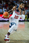 Kirie Irving of United States of America during FIBA Basketball World Cup 2014 group C between United States of America vs New Zeland  on September 02, 2014 at the Bilbao Arena stadium in Bilbao, Spain. Photo by Nacho Cubero / Power Sport Images
