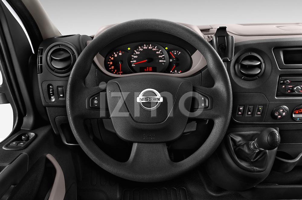 Car pictures of steering wheel view of a2015 Nissan NV 400 Business 4 Door Cargo Van Steering Wheel
