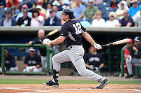 New York Yankees infielder Chase Headley (12) during a Spring Training game against the Philadelphia Phillies on March 27, 2015 at Bright House Field in Clearwater, Florida.  New York defeated Philadelphia 10-0.  (Mike Janes/Four Seam Images)