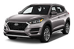 2019 Hyundai Tucson SEL 5 Door SUV angular front stock photos of front three quarter view