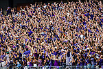 TCU Horned Frogs fans in action during the game between the Jackson State Tigers and the TCU Horned Frogs at the Amon G. Carter Stadium in Fort Worth, Texas.