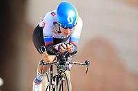 9th September 2021; Trento, Trentino–Alto Adige, Italy: 2021 UEC Road European Cycling Championships, Womens Individual time trials:  MEDVEDOVA Tereza (SVK) SLOVAKIA