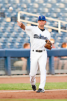 August 19,2010 Jason Van Kooten (1) in action during the MiLB game between the Midland RockHounds and the Tulsa Drillers at OneOk Field in Tulsa Oklahoma.