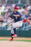 Lehigh Valley IronPigs starting pitcher Brad Lincoln (31) in action against the Charlotte Knights at BB&T Ballpark on May 8, 2014 in Charlotte, North Carolina.  The IronPigs defeated the Knights 8-6.  (Brian Westerholt/Four Seam Images)