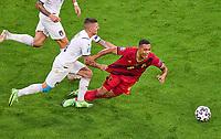 2nd July 2021; Allianz Arena, Munich, Germany; European Football Championships, Euro 2020 quarterfinals, Belgium versus Italy;  <br />  Youri Tielemans, Belgium  against Marco Verratti, ITA