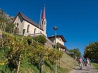 Kirche von Vellau, Algund bei Meran, Region Südtirol-Bozen, Italien, Europa<br /> Church of Vellau,  Lagundo near Merano, Region South Tyrol-Bolzano, Italy, Europe