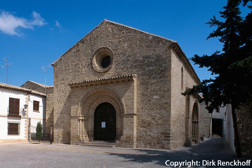 Spanien, Andalusien, Kirche Iglesia de Santa Cruz  in Baeza in der Provinz Jaen