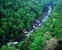 The Little River as viewed from Wolf Creek Overlook; Little River Canyon National Preserve, AL