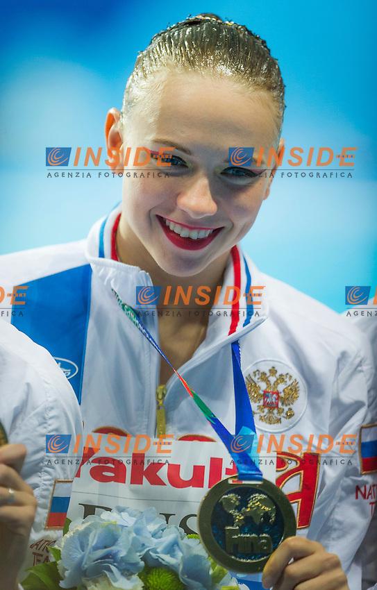 Podium<br /> Gold Medal<br /> TIMANINA Angelika RUS Russia<br /> Day9 01/08/2015<br /> XVI FINA World Championships Aquatics<br /> Synchro<br /> Kazan Tatarstan RUS July 24 - Aug. 9 2015 <br /> Photo Pasquale Mesiano/Deepbluemedia/Insidefoto