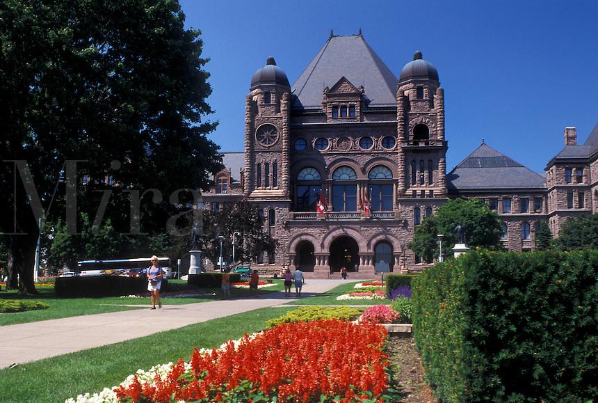 Provincial Parliament, Toronto, Canada, Ontario, Ontario Legislative Building in Queen's Park in downtown Toronto.