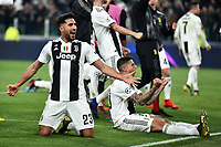 Emre Can and Juventus players celebrate the victory at the end of the Uefa Champions League 2018/2019 round of 16 second leg football match between Juventus and Atletico Madrid at Juventus stadium, Turin, March, 12, 2019 <br />  Foto Andrea Staccioli / Insidefoto