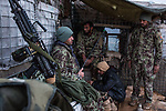 Soldiers of the checkpoint are at their shift at the  second tower. The daily life works according to the shift of  each of them, Kunar, Afghanistan, 16th November 2017. <br /> <br /> Des soldats du checkpoint font leur shift à la deuxième tour. La vie quotidienne fonctionne selon les shift de chacun, Kunar, Afghanistan, 16 novembre 2017.<br /> <br /> Kunar, Afghanistan, 16 novembre 2017.