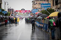Maglia Ciclamino / points leader Pascal Ackermann (DEU/BORA-hansgrohe) wins his 2nd Giro stage in a super rainy stage 5<br /> <br /> Stage 5: Frascati to Terracina (140km)<br /> 102nd Giro d'Italia 2019<br /> <br /> ©kramon