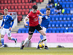 St Johnstone v Clyde…17.04.21   McDiarmid Park   Scottish Cup<br />Lloyd Robertson and Guy Melamed<br />Picture by Graeme Hart.<br />Copyright Perthshire Picture Agency<br />Tel: 01738 623350  Mobile: 07990 594431