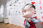 Comic strips of Peanuts on display at the Snoopy Museum Tokyo in Roppongi on April 21, 2016, Tokyo, Japan. Snoopy Museum Tokyo is the first outside the United States dedicated to the artwork of Charles M. Schulz. On display are some 60 original comic strips selected by Jean Schulz, wife of Peanuts creator, and personal gifts from fans that she has received over the years. My Favorite Peanuts is the first of six rotating exhibitions organised by the Charles M. Schulz Museum in Santa Rosa, California, to be displayed. The temporary museum will be open for 2 1/2 years. (Photo by Rodrigo Reyes Marin/AFLO)