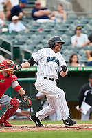 May 1 2010: Kevin Mattison (4) of the Jupiter Hammerheads  during a game vs. the Palm Beach Cardinals at Roger Dean Stadium in Jupiter, Florida. Palm Beach, the Florida State League High-A affiliate of the St. Louis Cardnials, won the game against Jupiter, affiliate of the Florida Marlins, by the score of 5-4  Photo By Scott Jontes/Four Seam Images