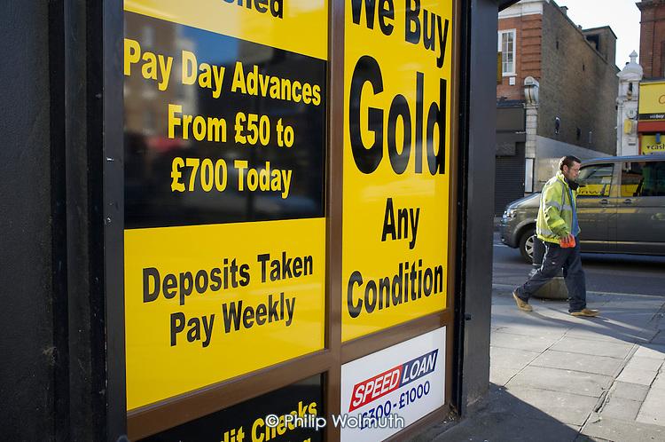 Payday loan shop, Kilburn, London.