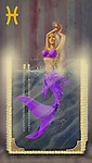 Illustrative image of mermaid in water representing Pisces sign