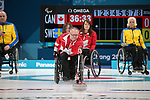 Dennis Thiessen, PyeongChang 2018 - Wheelchair Curling // Curling en fauteuil roulant.<br /> Canada plays Sweden in Wheelchair curling // Le Canada affronte la Suède au curling en fauteuil roulant. 11/03/2018.