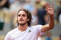 6th June 2021; Roland Garros, Paris France; French Open tennis championships day 8;  Attitude - Joie de Stefanos Tsitsipas ( GRE )