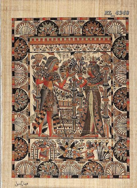 Interlitho, MODERN, Fantasy, paintings, couple, egyptian symbols, KL4348,#N# illustrations, pinturas