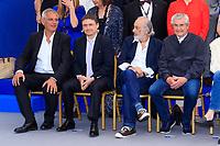 Laurent CANTET, Christian MUNGU, Jerry SCHATZBERG et Claude LELOUCH, PHOTO CALL réunissant les personnalités présentes pour les 70 ans, dans le cadre de la journée anniversaire de la 70e édition du Festival du Film à Cannes, Palais des Festivals et des Congres, Cannes, Sud de la France, mardi 23 mai 2017. Philippe FARJON / VISUAL Press Agency