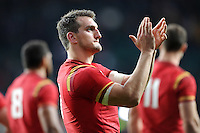 Sam Warburton of Wales thanks fans after Match 41 of the Rugby World Cup 2015 between South Africa and Wales - 17/10/2015 - Twickenham Stadium, London<br /> Mandatory Credit: Rob Munro/Stewart Communications