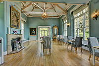 BNPS.co.uk (01202) 558833<br /> Pic: KnightFrank/BNPS<br /> <br /> An extensive renovation of every room was carried out about five years ago<br /> <br /> A historic English country estate with a French chateau feel and royal connections is on the market for £5.5m.<br /> <br /> The site of Grade II listed Yarner House was once governed by William the Conqueror, mentioned in the Domesday Book and a popular hunting site in Tudor times.<br /> <br /> The seven-bedroom house sits in a 247-acre estate on the edge of Dartmoor National Park and has stunning views over the surrounding landscape, including Yarner Wood.<br /> <br /> The ancient woodland was once part of the property until 1952 when it was sold to the Nature Conservancy to become one of the first national nature reserves.<br /> <br /> Where the current Yarner House is built, it is thought to have had a hunting lodge in Tudor times, with connections to Henry VII, Henry VIII, Edward VI and Queen Mary.