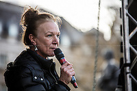 """Carole Duggan (Mark Duggan's aunt).<br /> <br /> London, 22/03/2014. """"Stand Up To Racism & fascism - No to Scapegoating Immigrants, No to Islamophobia, Yes to Diversity"""", national demo marking UN Anti-Racism Day organised by TUC (Trade Union Congress) and UAF (Unite Against Fascism).<br /> <br /> For more information please click here: http://www.standuptoracism.org.uk/"""