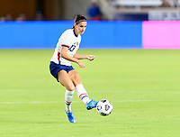 HOUSTON, TX - JUNE 10: Alex Morgan #13 of the United States passes the ball to a teammate during a game between Portugal and USWNT at BBVA Stadium on June 10, 2021 in Houston, Texas.