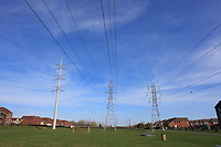 2013 File Photo - Electrical power line south of Montreal