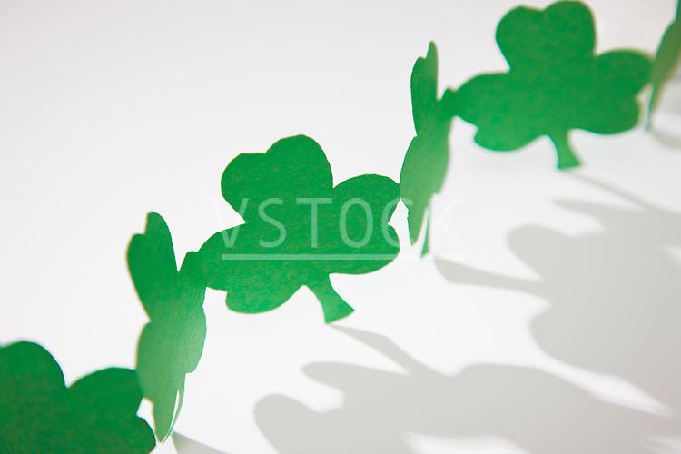 Green paper shamrocks