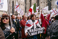Roberto Maroni, lega nord, manifestazione 50 anni dalla Liberazione, 25 aprile 1995, Milano
