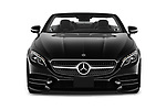 Car photography straight front view of a 2019 Mercedes Benz S-Class S-560 2 Door Convertible Front View