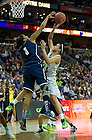 Apr 7, 2013; Notre Dame Kayla McBride goes up for a shot as Connecticut Morgan Tuck defends during the second half  of the semifinals of the 2013 NCAA women's basketball Final Four at the New Orleans Arena. Connecticut defeated Notre Dame 83 to 65. Photo by Barbara Johnston/ University of Notre Dame 83 to 65